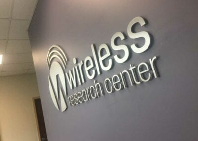 INTERIOR-SIGN-WIRELESS-RESEARCH-CENTER